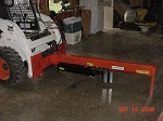 "32"" Open Skid Steer Upside Down Log Splitter Attachment 20-Ton"